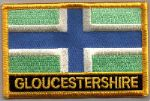 Gloucestershire Embroidered Flag Patch, style 09.